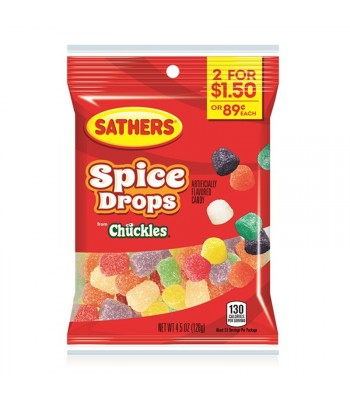 Sathers Spice Drops - 4.5oz (128g) Sweets and Candy Sathers