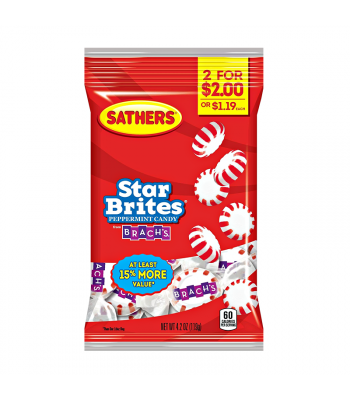 Sathers Peppermint Starbrites 3.6oz (102g) Sweets and Candy Sathers