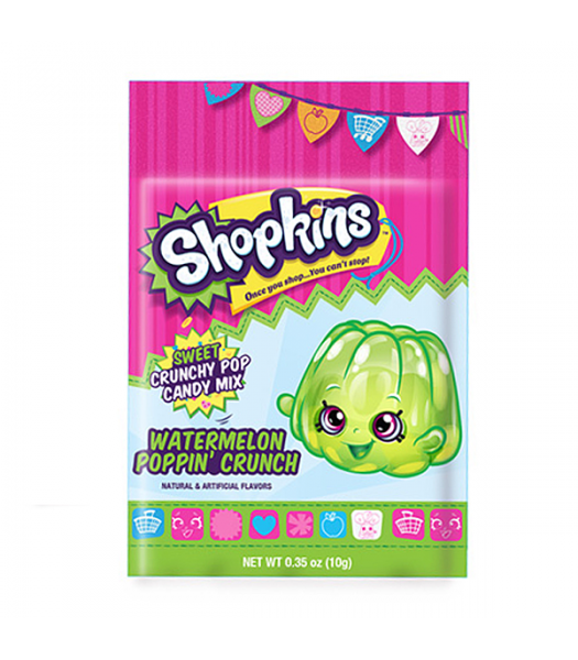 Shopkins Poppin' Crunchy Sweet Candy Mix 0.35oz (10g) Soft Candy