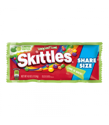 Skittles - Long Lost Lime - Share Size 4oz (113.4g) Sweets and Candy Skittles