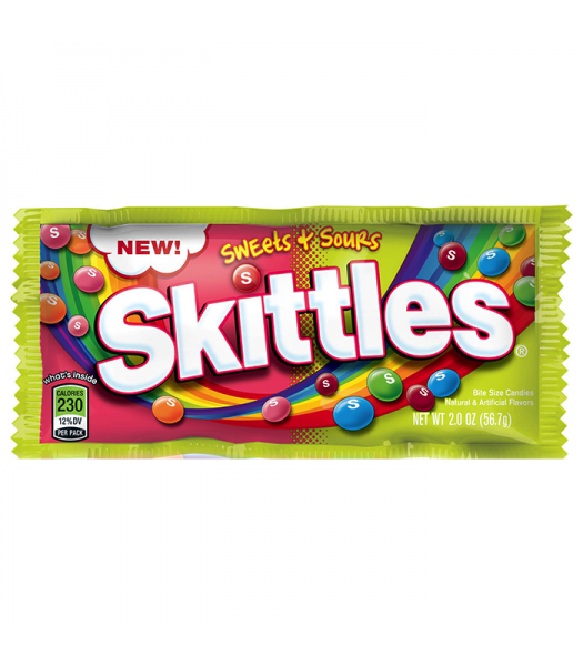 Skittles - Sweets & Sours - 2oz