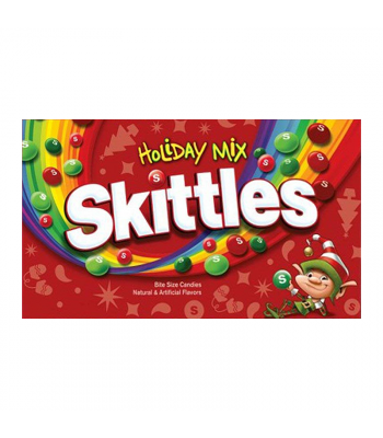 Skittles Holiday Mix Theater Box - 3.5oz (99g) [Christmas] Sweets and Candy Skittles
