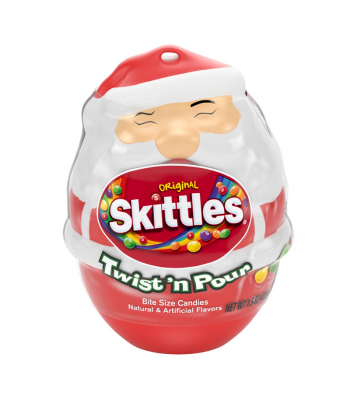 Skittles Original Twist & Pour Santa - 1.5oz (42g) [Christmas] Sweets and Candy Skittles