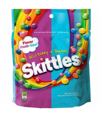 Skittles Mash Ups (Wildberry & Tropical) Peg Bag 7.2oz Soft Candy Skittles