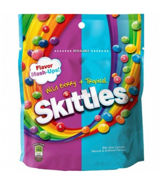 Skittles Mash Ups (Wildberry & Tropical) Peg Bag 7.2oz Soft Candy Skittles