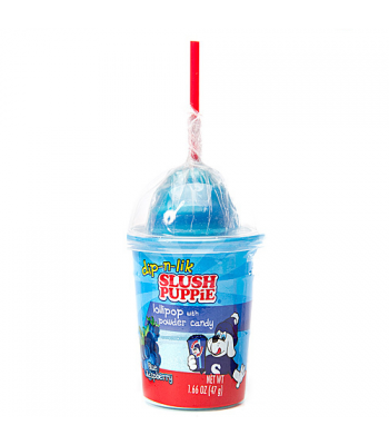 Slush Puppie Candy Dip-N-Lick Blue Raspberry 1.66oz (47g) Sweets and Candy Slush Puppie