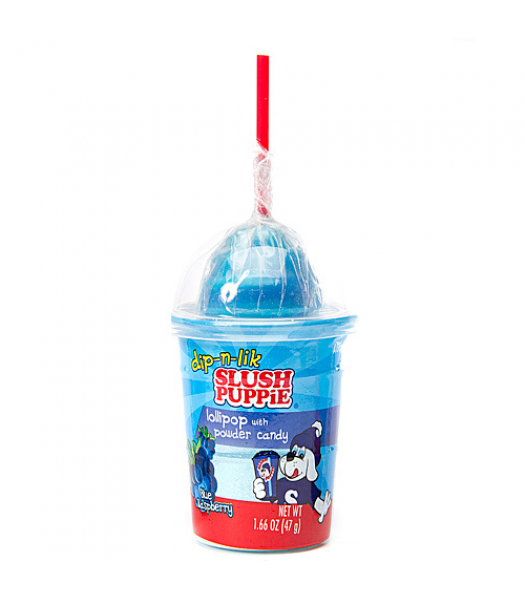 Slush Puppie Candy Dip-N-Lick Blue Raspberry 1.66oz (47g) Lollipops Slush Puppie