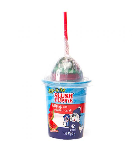 Slush Puppie Candy Dip-N-Lick Watermelon 1.66oz (47g) Lollipops Slush Puppie