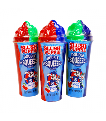 Slush Puppie Double Squeeze Candy 2.8oz (80g) - SINGLE Soft Candy Slush Puppie