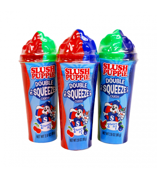 Slush Puppie Double Squeeze Candy 2.8oz (80g) - SINGLE Soft Candy Slush Puppie