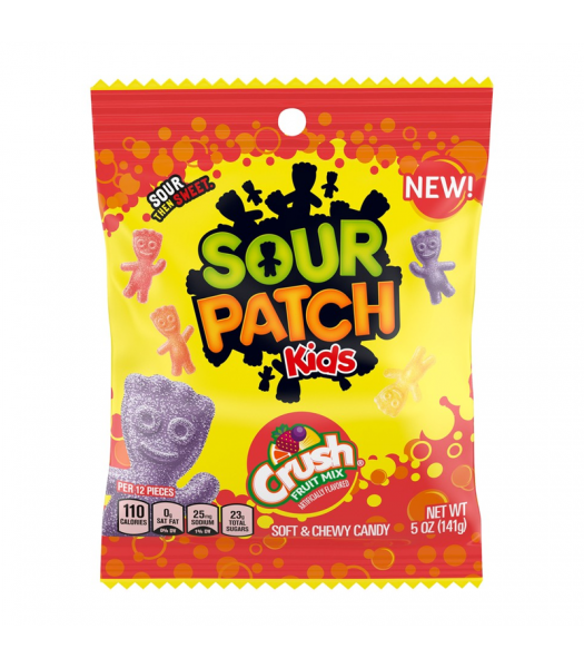Sour Patch Kids Crush Fruit Mix - 5oz (141g) Sweets and Candy Swedish Fish