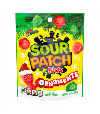 Sour Patch Kids Festive Ornaments - 10oz (283g) Sweets and Candy Sour Patch