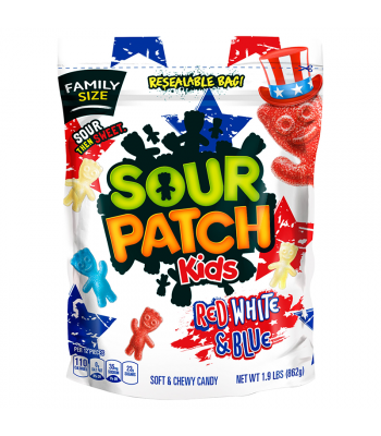Sour Patch Kids Red White & Blue Family Size - 1.9lbs (862g) Sweets and Candy Sour Patch