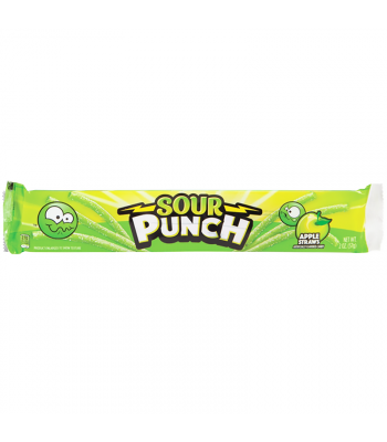 Sour Punch Apple Candy Straws - 2oz (57g) Soft Candy Sour Punch