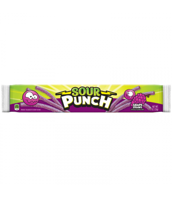 Sour Punch Grape Candy Straws - 2oz (57g) Sweets and Candy Sour Punch