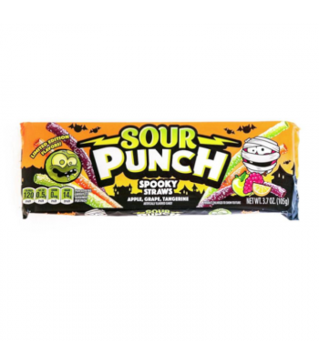 Sour Punch Halloween Spooky Straws - 3.7oz (105g)  Sour Punch