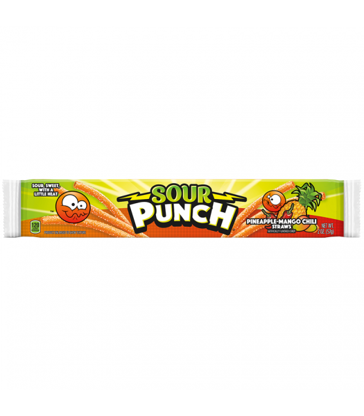 Sour Punch Pineapple-Mango Chili Candy Straws - 2oz (57g) Sweets and Candy Sour Punch