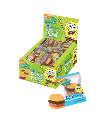 Giant Gummy Krabby Patty - 0.63oz (18g) - SINGLE Sweets and Candy