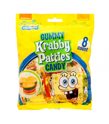 Spongebob Squarepants Gummy Krabby Patties Peg Bag - 2.54oz (72g)