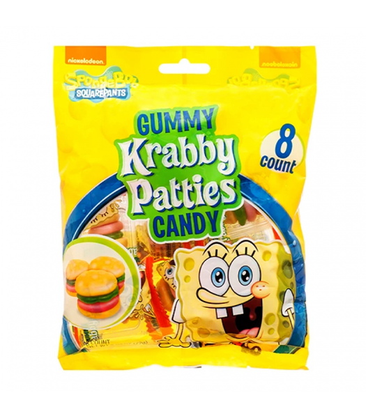 Spongebob Squarepants Gummy Krabby Patties Peg Bag - 2.54oz (72g)