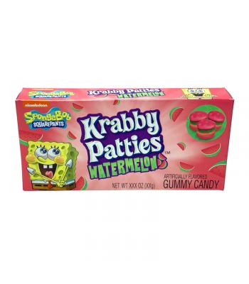 Spongebob Squarepants Gummy Krabby Patties Watermelon Theater Box - 2.54oz (72g) Sweets and Candy