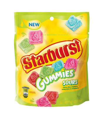 Starburst Gummies Sours Candy 8oz (226.8g) Soft Candy