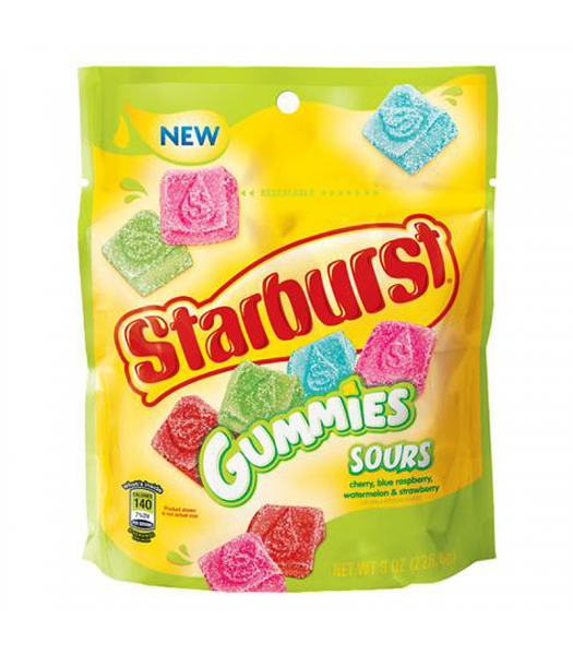 Starburst Gummies Sours Candy 8oz (226.8g) Soft Candy
