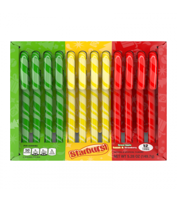 Starburst 3 Flavour Candy Canes - 5.3oz (150g) [Christmas] Sweets and Candy Starburst