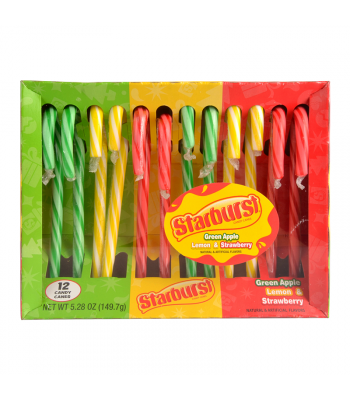 Starburst Assorted Candy Canes 5.28oz (149.7g)