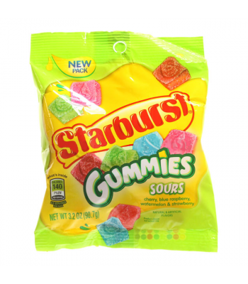 Starburst Gummies SOUR 3.2oz (90.7g) Sweets and Candy Starburst