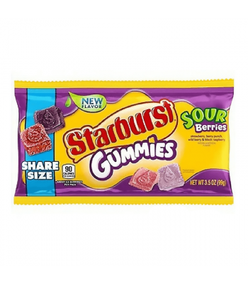 Starburst Gummies Sour Berries Share Size - 3.5oz (99g) Sweets and Candy