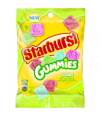 Starburst Gummies SOUR 5.8oz (164.4g) Soft Candy Starburst