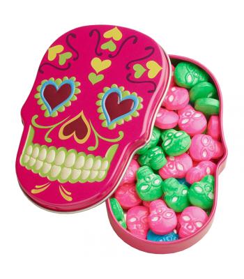 Sugar Skulls Sweet Candy Skulls Tin 1.4oz (39.6g) Hard Candy