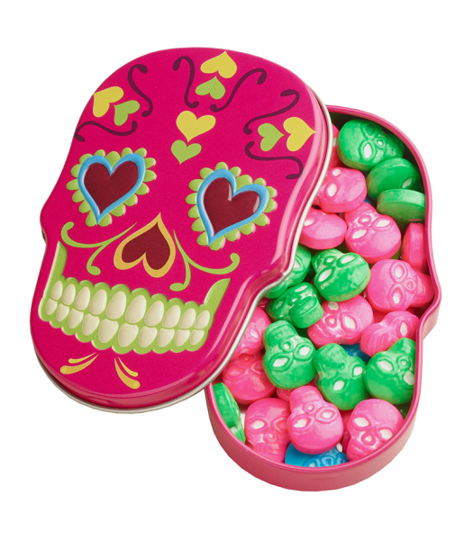Sugar Skulls Sweet Candy Skulls Tin 1.4oz (39.6g) Hard Candy