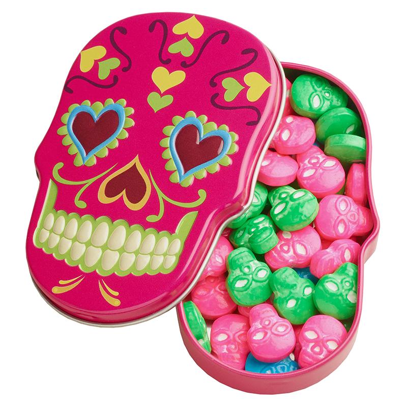 Sugar Skulls Sweet Candy Skulls Tin 1 4oz 39 6g