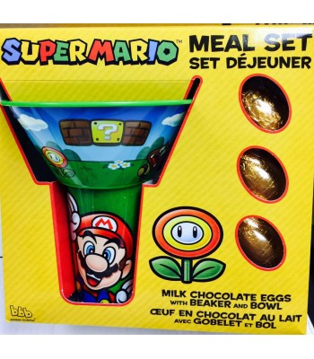 Super Mario Bowl and Beaker with Chocolate Eggs Novelty Candy
