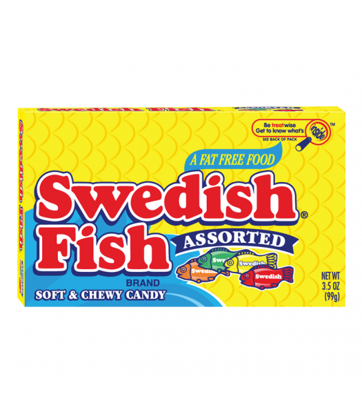 Swedish Fish Assorted Flavours Theatre Box 3.5oz (99g) Sweets and Candy Swedish Fish