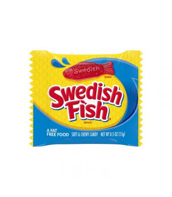 Swedish Fish Treat-Size Miniature Bag - 0.5oz (15g) Sweets and Candy Swedish Fish