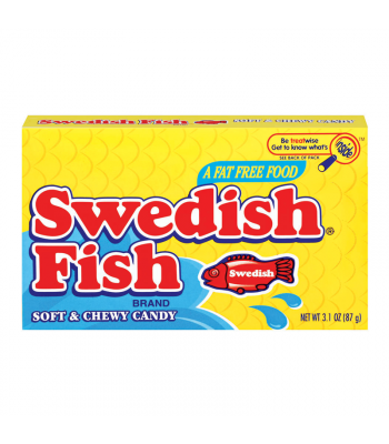Swedish Fish Red Theater Box 3.1oz (88g) Soft Candy Swedish Fish