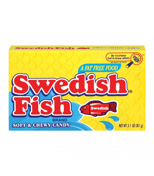 Swedish Fish Red Theater Box 3.1oz (88g) Sweets and Candy Swedish Fish