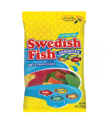 Swedish Fish Assorted Peg Bag 8oz (226g) Soft Candy Swedish Fish