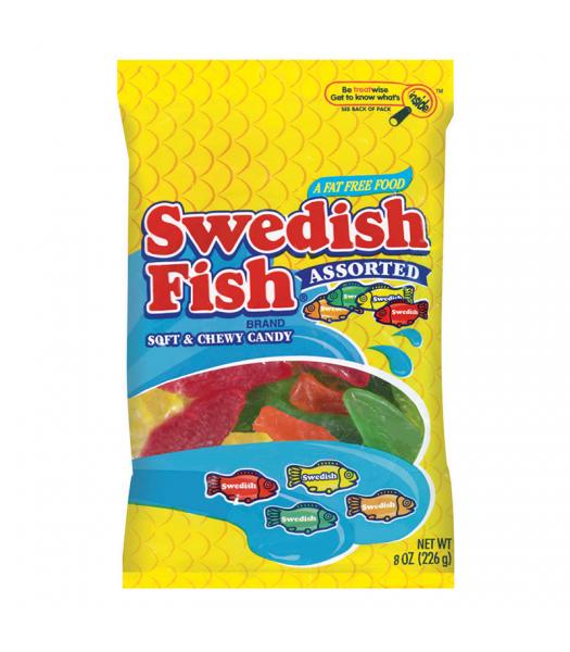 Swedish Fish Assorted Peg Bag 8oz (226g) Soft Candy Swedish Fish