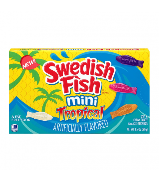 Swedish Fish Tropical Theatre Box - 3.5oz (99g) Sweets and Candy Swedish Fish