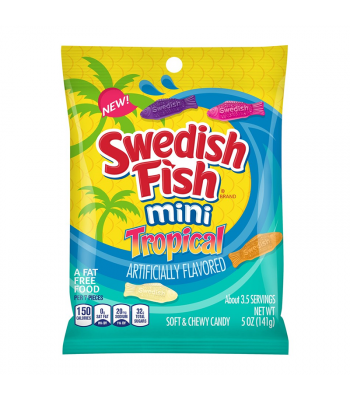 Swedish Fish Tropical Peg Bag - 5oz (141g) Sweets and Candy Swedish Fish