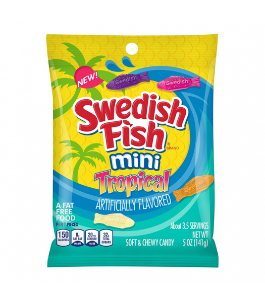 Swedish Fish Tropical Peg Bag - 5oz (141g) Sweets and Candy Swedish Fish