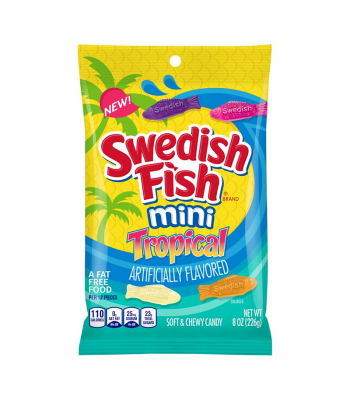 Swedish Fish Tropical Peg Bag - 8oz (226g) Sweets and Candy Swedish Fish