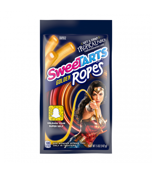 Clearance Special - Sweetarts Wonder Woman Golden Ropes - 5oz (142g) **Short Dated: March 21** Clearance Zone