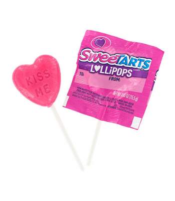 SweeTarts Valentine's Lollipop - 0.55oz (15.5g) - SINGLE Sweets and Candy