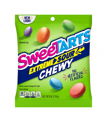 SweeTarts Chewy Extreme Sours - 6oz (170g) Sweets and Candy