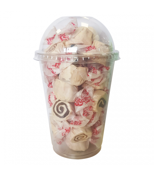 Taffy Town Cinnamon Roll Salt Water Taffy Cup (23pcs) (182g) Sweets and Candy Taffy Town